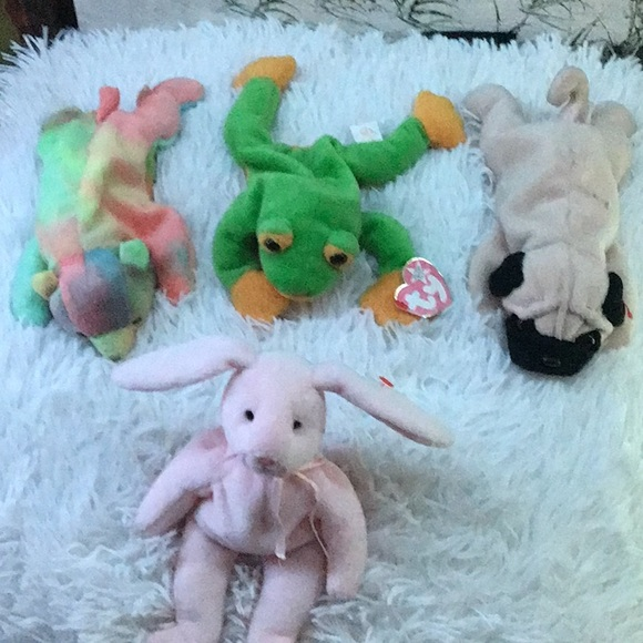 Set of 4 Ty Beanie Babies